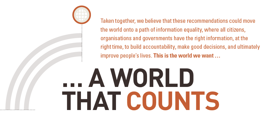 A World That Counts graphic
