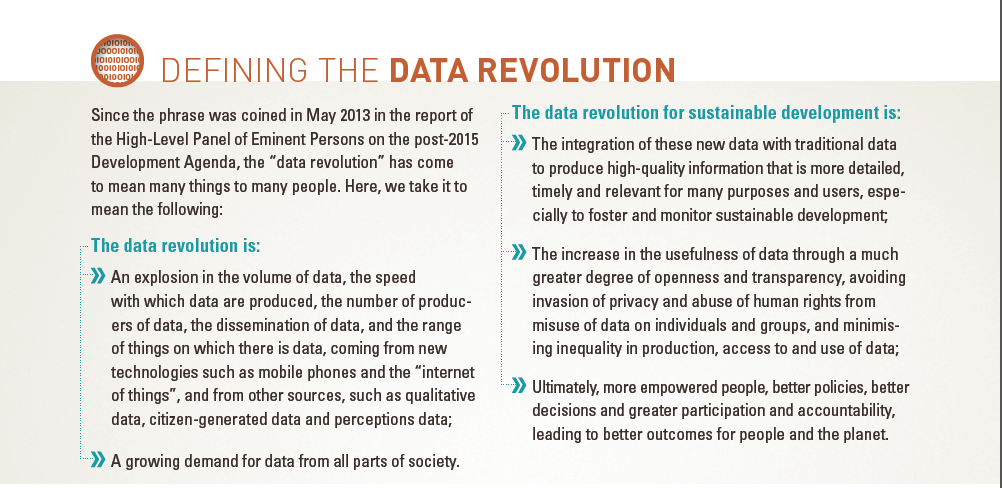 Data Revolution Report Un Data Revolution